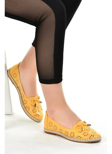Ayakland Ayakland 139-45 Günlük Anatomik Bayan Babet Ayakkabı Hardal